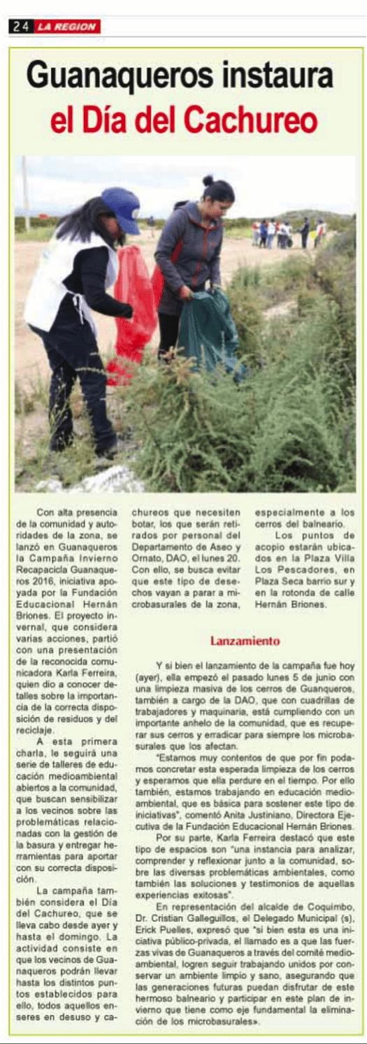 Diario La Region del 18 de Junio2016