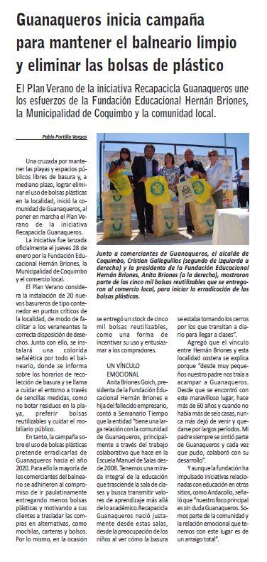 Semanario Tiempo 20160129
